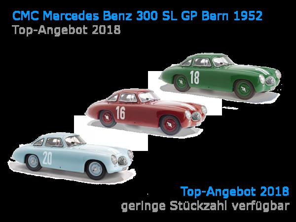 CMC Mercedes-Benz 300 SL GP Bern 1952 SETPREIS mit allen drei Fahrzeugen