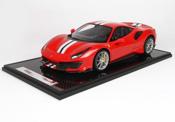 BBR Ferrari 488 Pista Rosso Corsa Limited Edition 50 1 /12