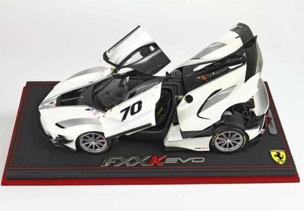 BBR High End Ferrari FXX-K EVO Bianco Italia metal 1:18 special box