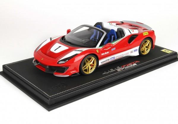 BBR Ferrari 488 Pista Spider - Open Roof Special Version Lauda 1/18 Limited Edition 138