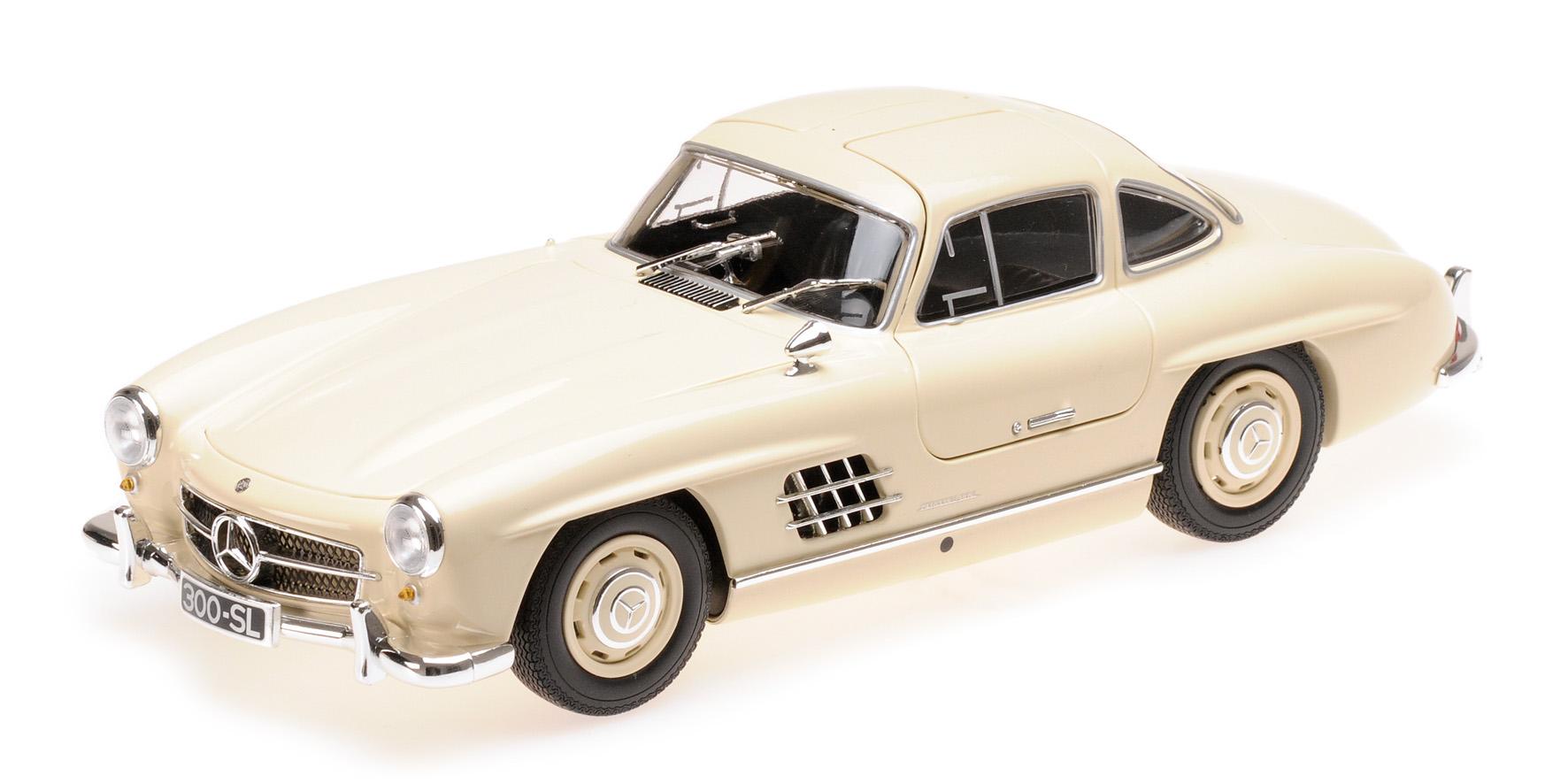 Mercedes 300 SL W198 Flügeltürer 1955 silber Modellauto 1:18 Minichamps