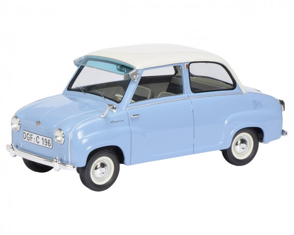 Schuco Goggomobil Limousine blau/weiß 1:18 Limited Edition 500