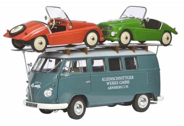 Schuco Exklusiv VW T1 Bus Kleinschnittger mit 2 Kleinschnittger F125 Limited Edition 1.000
